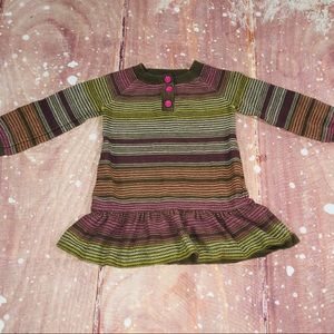 Old Navy 12-18 Month Long Sleeve Stripe Dress